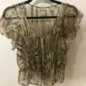 Lucky brand sheer animal top